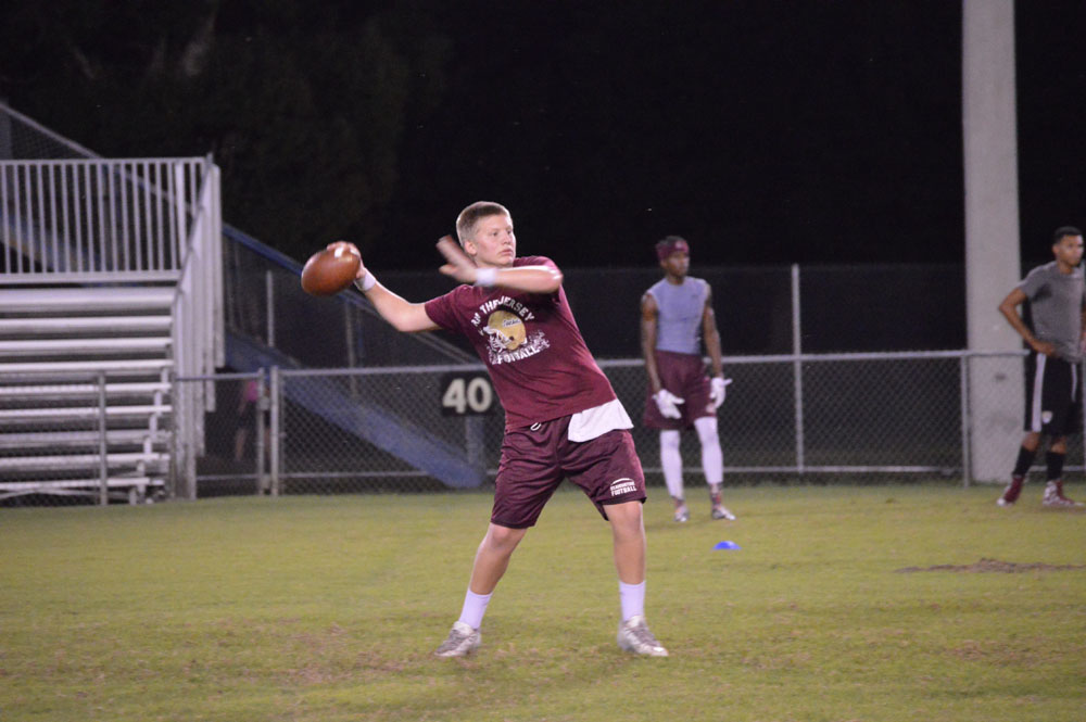quarterback Austin Reed, Austin Reed football, St. Augustine High School Football, SAHS football, SAHS Jackets QB, St. Augustine HS football, Brantley quarterback camp