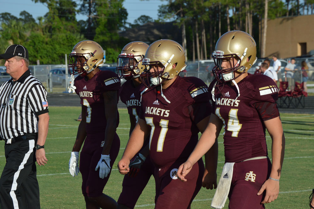 SAHS Yellow Jackets football, St. Augustine High School Football, Austin Reed, Quarterback Austin Reed, Bishop Kenny football, Bishop Kenny Crusaiers, SAHS Jackets, Austin Reed football