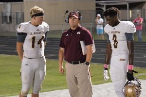 Austin Reed football, SAHS Jackets, SAHS Jacket football, St. Augustine High School, Quarterback Austin Reed