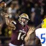 Austin Reed football, SAHS Jackets, SAHS Jacket football, St. Augustine High School, Quarterback Austin Reed