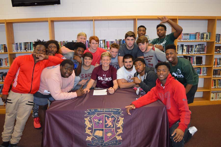 Austin Reed football, SAHS Jackets football, SIU Saluki football, St. Augustine High school